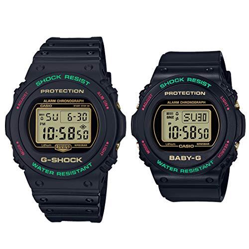 [カシオ]腕時計ジーショック×ベビージーペアセットスローバック1990sDW-5700TH-1JF/BGD-570TH-1JF
