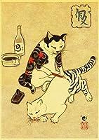日本の侍猫-1000個/セットジグソー1000大人用キッズおもちゃギフト紙パズルマップおもちゃ75x50CM女の子ギフト