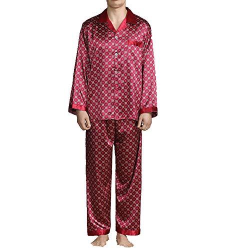Pijama de manga larga para hombre estampado