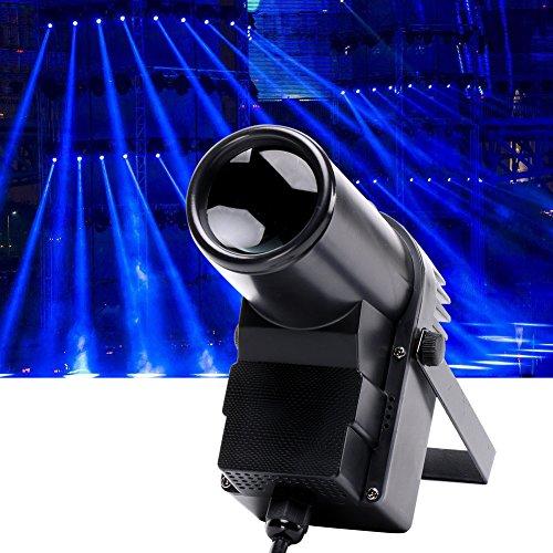 U'king LT-LED, 30W, Pinspot-Lampe, mit Bühnen-Effekt, Lichterkette, Strahler, LED-Lampe, LED-Spotlight, Systemleuchte, Sprachsteuerung DMX512(30W)