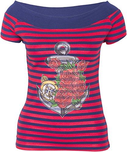 Küstenluder MY ANCHOR Anker Rosen Nautical Sailor CARMEN Shirt Rockabilly - 2