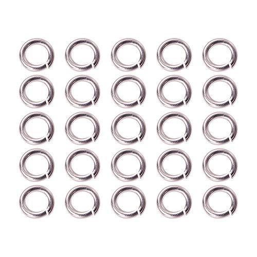 Pandahall Elite - 1Caja con anillos de salto de hierro chapado de 6colores, sin soldar, para joyería