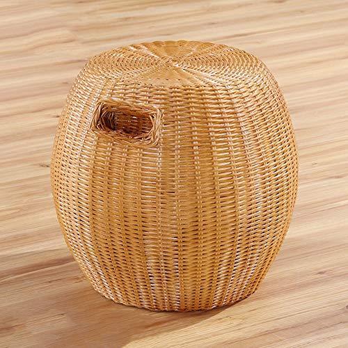 HFA Sofá Taburete Brisk Taburete de ratán para el hogar Taburete de ratán real Taburete de mesa de comedor de ratán Taburete redondo de ratán Taburete alto Silla de ratán fdh /