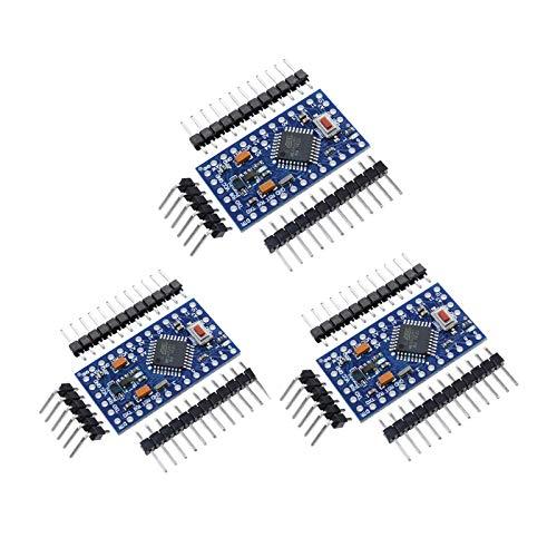 ZHITING 3 Pz Microcontrollore PRO Mini Atmega328P-AU 5V / 16MHz Scheda di Sviluppo con connettori per Arduino