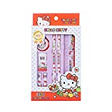 Hello Kitty Best Pencil Ruler School Supply Gift Stationery Set 7pcs (Red)
