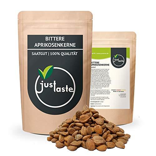 justaste 1 kg bittere Aprikosenkerne | naturbelassen | B17 | aus kontrolliertem Anbau Original | Qualität | bitter | Kerne Samen