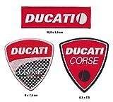 Ducati - Parche termoadhesivo, 3 unidades, diseño de moto