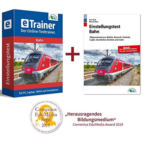 Einstellungstest Bahn Kombipaket: Online-Testtrainer + Buch | Über 2.400 Aufgaben mit allen Lösungswegen | Lokführer, Fahrdienstleiter, Zugbegleiter, Gleisbauer und mehr