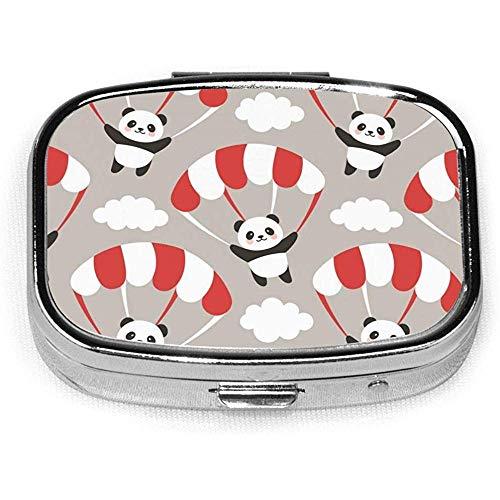 Cute Panda Pill Box CaseSquare Tableta Medicina Bolsillo Monedero Píldora de viaje VitaminBox Case Holder