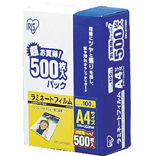 アイリスオーヤマ ラミネートフィルム A4 100μm 500...