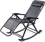 Lightweight Sun Lounger Faltbare Gartenstühle Sunleunger, Lounger Schaukelstuhl, ältere Falten Siesta Sunlotzen mit verstellbarer Fußstütze und zurückhaltende Rückenfalle hsvbkwm ( Color : Grey )