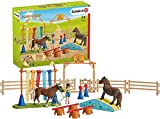 Schleich Farm World Playset Entraînement d'agility pour Poney, 42481, Multicolore