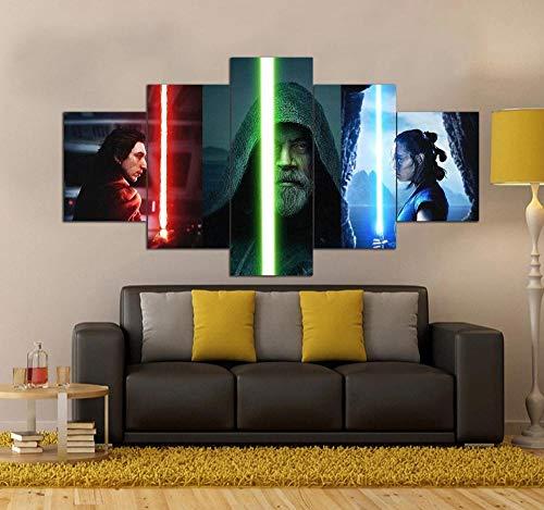 45Tdfc 5 Piezas Star Wars el Ascenso de Skywalker Fondo Pintura de la Pared La impresión de la Imagen en la Lona Art Fotos de la Obra para la Decoración Moderna del Ministerio del Interior