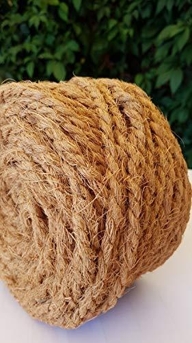 Kokosseil 7 mm – Baumanbinder aus Kokosfaser – ungefärbte Naturfaser – 50 m - 5