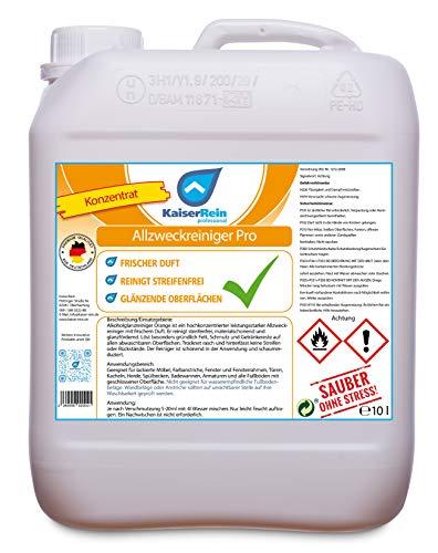 KaiserRein Allzweckreiniger 10 L Kanister Konzentrat Orange Oberflächenreiniger Bodenreiniger Universalreiniger für Boden, Auto und Oberflächen Kraftreiniger fettlösender Industriereiniger