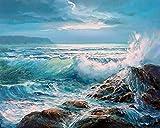 Mini Puzzles de 1000 Piezas 50x75cm Ola del océano Azul Puzzles de Suelo para Niños Adultos Grande Educativo El Alivio del Estrés uguete para Adultos Niños