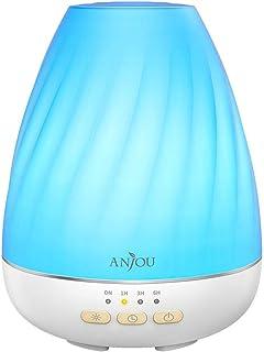 Anjoy ultrasónico 200ml difusor de aroma difusor de aceite esencial de control con niebla para 12H uso (bajo agua Auto sh...