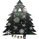 Hallingers Riesiger 24 Tee-Adventskalender als Baum (345g) - Merry Christmas (Adventsbaum) - zu...
