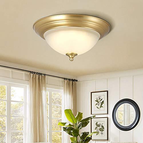 De enige goede kwaliteit Indoor Amerikaanse All-koper Plafond Slaapkamer Lamp Retro Landelijke Eenvoudige Huishoudelijke Koper Corridor Hal Kamerverlichting