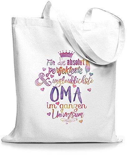 StyloBags Jutebeutel/Tasche Für die absolut perfekteste Oma, Farbe:weiss