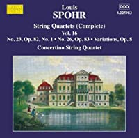 Spohr: String Quartets, Vol. 16 by Moscow Concertino Quartet (2014-05-27)