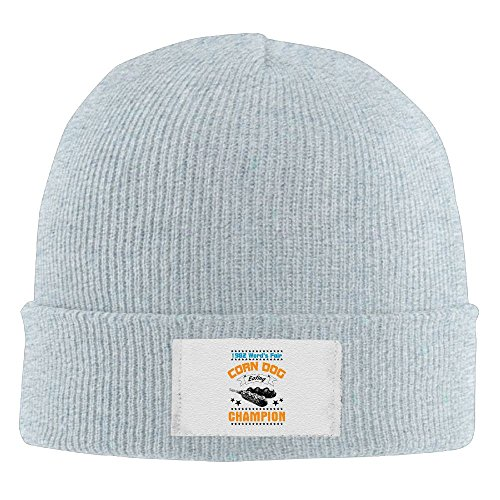 Corn Dog Eating Champion Cap Winter Knitting Warm Watch Hat Beanie Skull Cap For Unisex Ash One Size Fit All