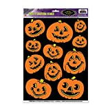 Jack-O-Lantern Clings Party Accessory (1 count) (11/Sh)