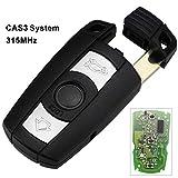 À distance clés de voiture 315/433 / 868MHZ for BMW 1 3 5 7 Série CAS3 système X5 X6 Z4 Smart Control Key émetteur 3 boutons (Color : 315MHZ)