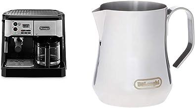 De'Longhi BCO430BM Combination Pump Espresso and 10c Drip Coffee Machine with Advanced Cappuccino System & DLSC060 Milk Fr...