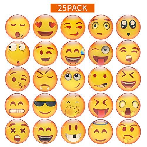 M MORCART Imanes Nevera Imanes Nevera Pizarra Blanca Magnetica 25 Diferentes Emoji Smiley Imanes Pieza Frigorifico de Cristal 3D Decorativos Divertidos