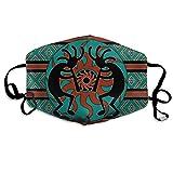 Confortevole Regolabile Teal Southwestern Kokopelli Southwest Design Native African Americ...