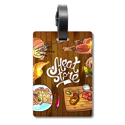 Vleeswinkel Barbecue Steak Cruise koffer Tas Tag Tourister Identificatie-label