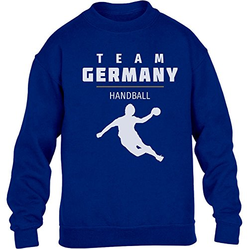 Team Germany Handball Fan Shirt Olympische Spiele Kinder Pullover Sweatshirt S 122/128 Blau