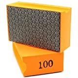 1 esponja de lija de grano 100 para lijar o desbarbar azulejos, cerámica, vidrio, mármol, piedra natural o artificial.