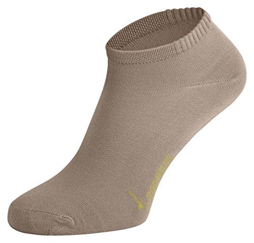 Tobeni 6 Paires Femme Socquettes Chaussettes Baskets Bambou Couleur Beige Taille 35-38