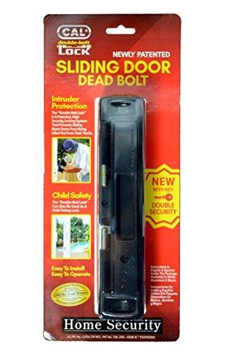 CAL Lock Smart Bolt Lock Sliding Door Latch Heavy Duty Steel Surface Double Security Pin Locking...