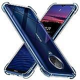 Peakally Crystal Clear Kompatibel mit Nokia G10/G20 Hülle, Soft Silikon Dünn Transparent Hüllen [Stoßdämpfung] [Anti Slip] TPU Schutzhülle Hülle Handyhülle für Nokia G10/G20