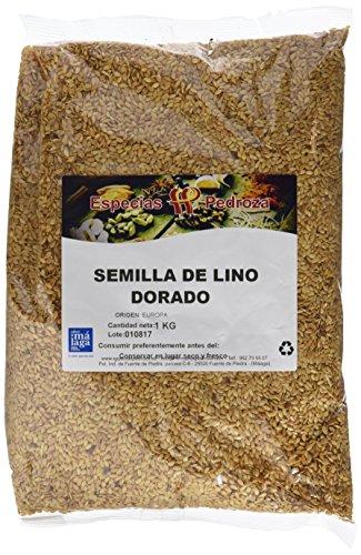 Especias Pedroza Semilla de Lino Dorado - 5 Paquetes de 1000