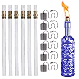 JK LUMI Wine Bottle Torch Kit 6 Pack, Includes 6 Long Life Torch Wicks, Lamp Cover & Brass Wick Mount(Bottle not Included)