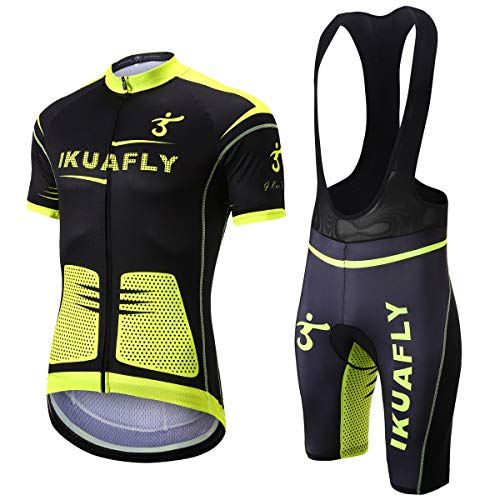 I Kua Fly Maillot Ciclismo, Maillot Ciclismo Ropa Ciclismo Reflectivo para Hombre, M