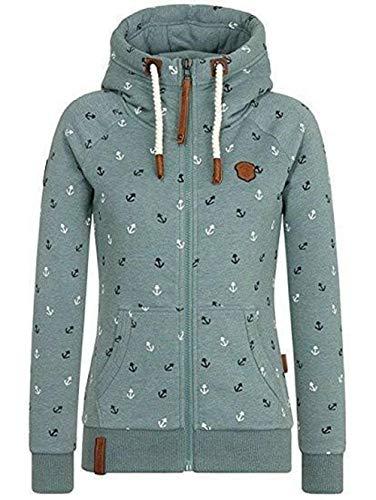 GWEI Jacke Damen Sweatjacke Hoodie Sweatshirt Oberteile Damen Pullover Kapuzenpullover Pulli mit Reissverschluss