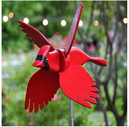 Molino De Viento De Loro,Utilizado Para La Decoración De Jardines Al Aire Libre, Veleta De Primavera En Forma De Pájaro, Embellecimiento De Césped De Patio De Jardinería