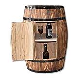 Oak Barrel Wine Cabinet Decorated Beer Barrel Wooden Wine Rack Bottle and Glass Holder Display Storage Wine Cellar Decoration