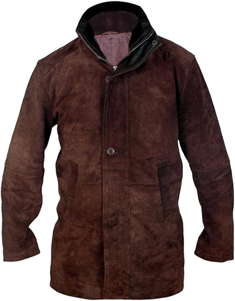 Mens Longmire Robert Shariff Walt Taylor Suede Leather Trench Coat