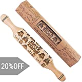 Star wars Rolling Pin Embossing wood engraved gift idea for Baking and Cookies 11.8' inch Length