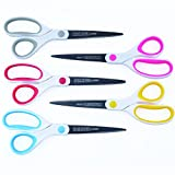 Best Titanium Scissors - 5 Pack - 8' Blade - (STRONG TITANIUM STEEL) -...