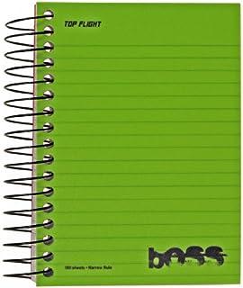 Top vuelo Boss Poly Cover y Negro alambre Chub Wirebound Notebook, regla de colegio, 180hojas, el color puede variar (43005)