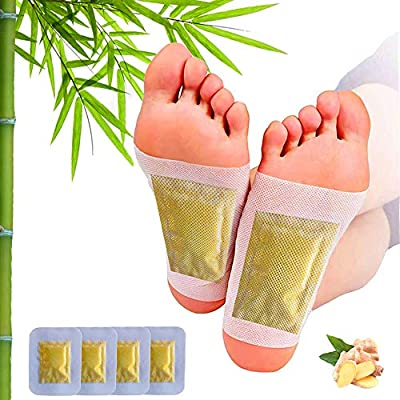 Ginger Foot Pads, Ginger Pads for Better Sleep, 2 in 1 Packaging Easy to Use for Foot Care, Warm Feet, Swelling Feet. Pure Natural Premium Ingredients Ginger Powder, Bamboo Vinegar, 12 Pads. by Shenzhenzhimeishengkejiyouxiangongsi
