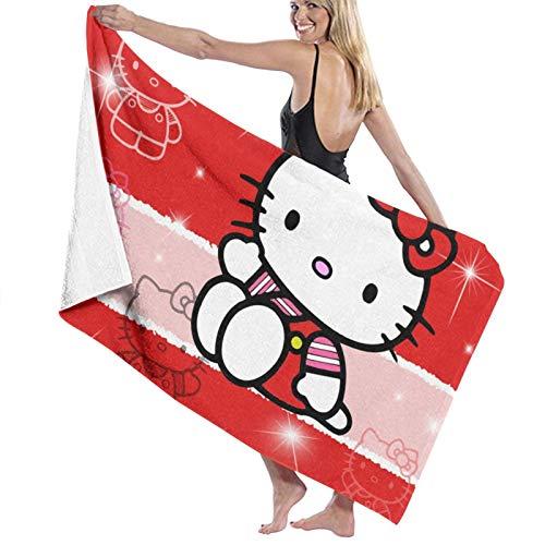 Toallas de baño con diseño de anime de Hello Kitty, gruesas, suaves y cómodas, con exquisitos patrones impresos, adecuadas para baños, playas y piscinas