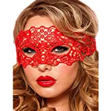 Lace Masquerade Mask Elastic,Fit for Adult,Soft Gentle Material,Specially for Costume,Thememed Party Red